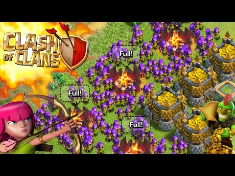Clash Of Clans -so Much Fucking Purple! Sexy Fun 3 Star!funny Moments+ Fail Max Troops(watch This) video