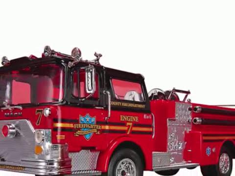 Juguetes De Camiones De Bomberos Para Niños, Dibujos Animados De Camiones Para Niños