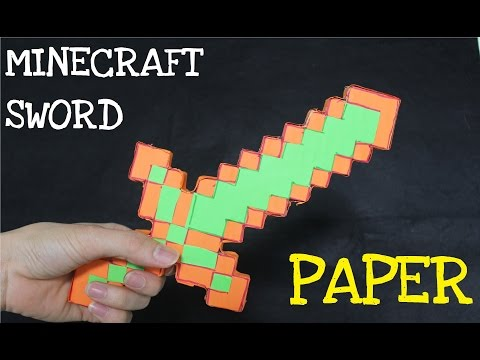 How to make a Paper Minecraft Sword in Real Life | Minecraft Foam Diamond Sword