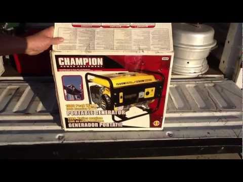 Un-box and first run of Champion 1200 Watt / 1500 Watt Generator