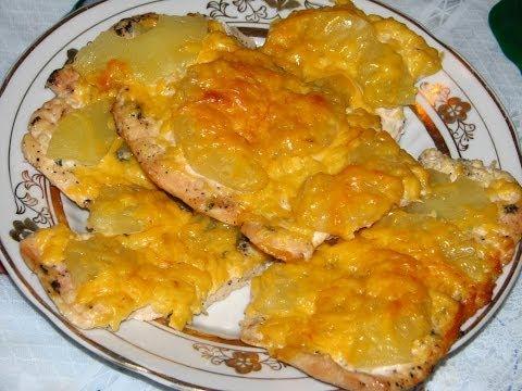 Рецепт приготовления курицы с ананасом и сыром. Курица по французски