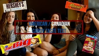 Canadian/American candy taste test | Криси и Иван