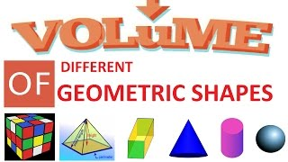 Volume of Different Shapes | Learning Technology