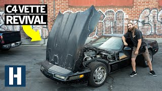 Scrapyard Corvette C4 Gets Rescued + Custom Cut Door Panels!