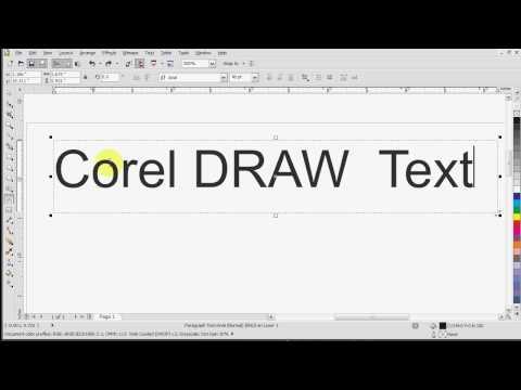 Corel Draw X5 Text Tutorial