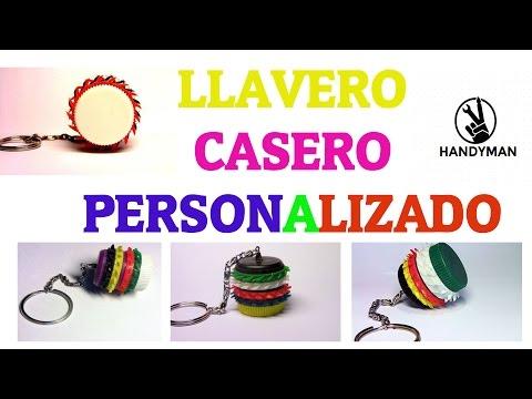Llavero Casero Personalizado con Tapón botella y anillas