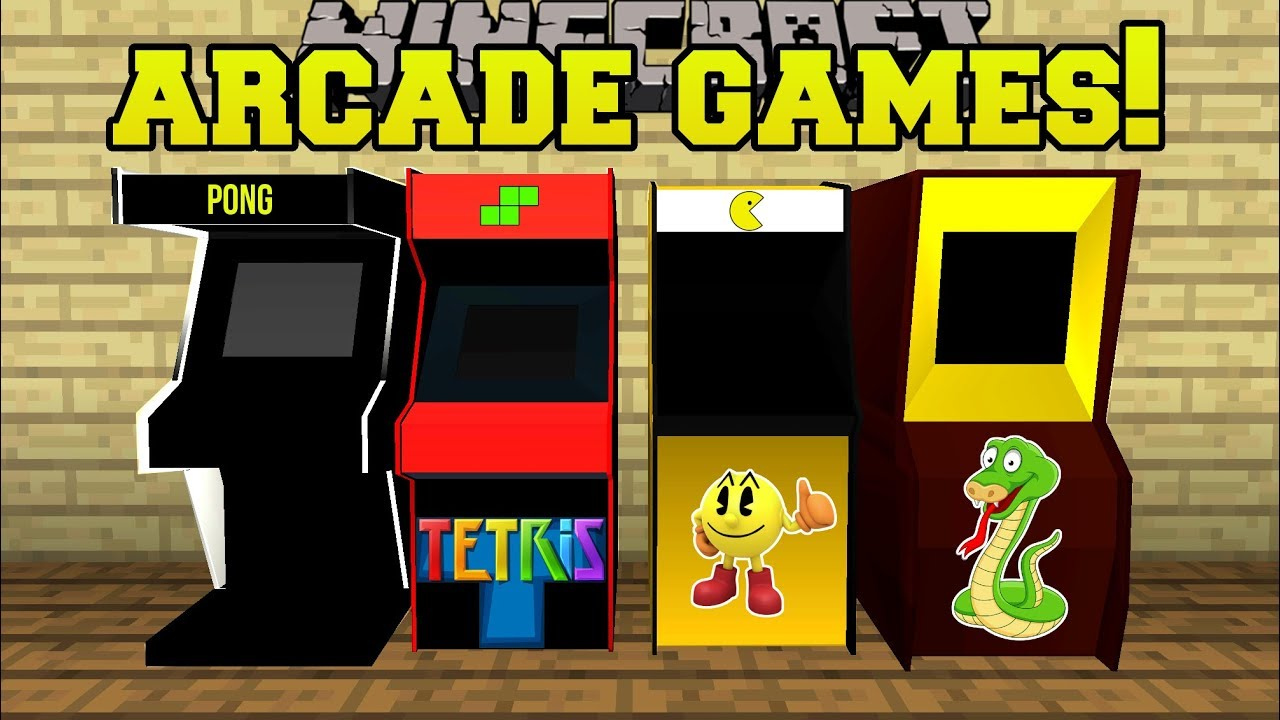 Minecraft: ARCADE GAMES!! (PACMAN & PONG MACHINES WITH PRIZES!!) Mod Showcase