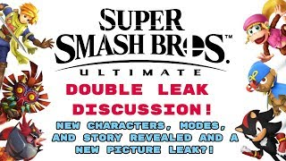 Smash Ultimate   DOUBLE LEAK DISCUSSION!   NEW CHARACTERS, AND STORY REVEALED + PICTURE LEAK?!?