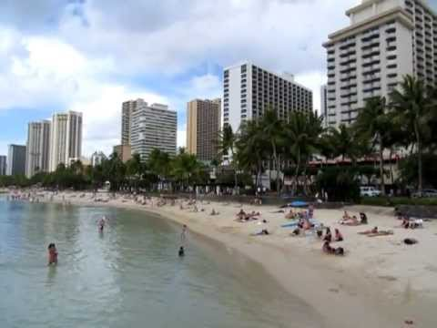 video clip - waikiki beach various activities - 3-16-13 sidneysealine