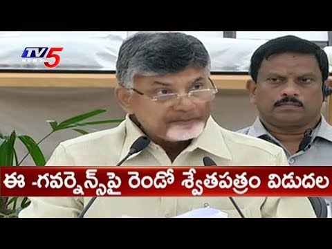 Chandrababu Naidu Released Second White Paper On E Governance | TV5 News