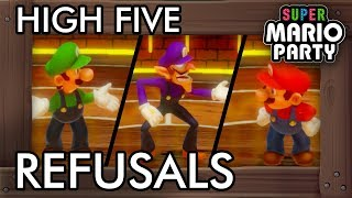 Super Mario Party - All High Five Refusal Reactions