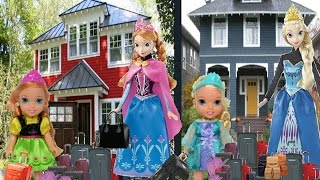Anna and Elsa Toddlers Move To A New House #1 Elsya & Annya Adventures Disney Toys & Dolls Family