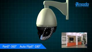 High Speed PTZ 22X Zoom Security Camera with Upgraded Menu Function