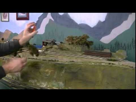 Make free trees for model railroad layout