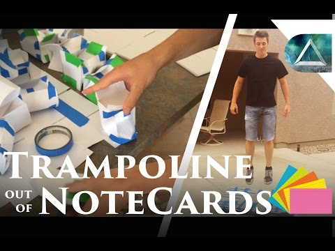 Paper Trampoline - The Physics of Elasticity, Goat Simulator and a Notecard Trampoline