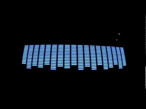 Blue led equalizer decal
