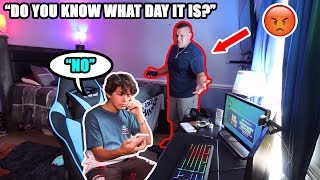 I FORGOT FATHERS DAY PRANK! *HE WAS SO MAD*