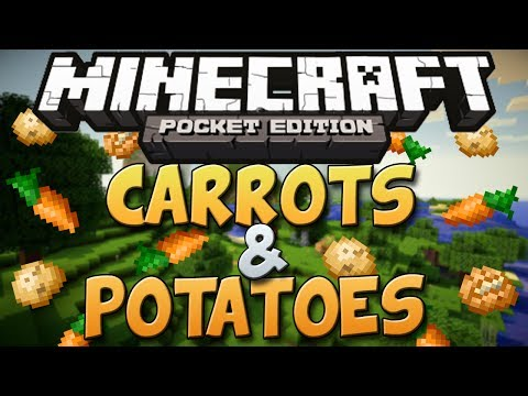 How To Get Carrots & Potatoes In Minecraft Pocket Edition (0.8.1) - Minecraft PE Tutorial