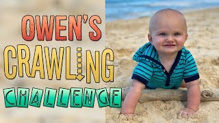 Baby Owen Crawling Challenge!