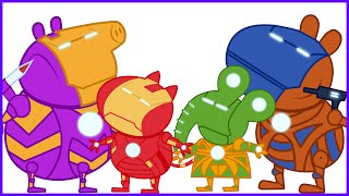 Peppa pig New episodes se Disfraza I Nuevo Disfraza I Marvel Super Heroes Iron Man I New Disguise