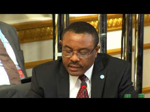 Somalia Conference - Prime Minister of Ethiopia Hailemariam Desalegn