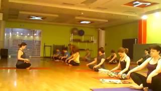 Йога: занятие в Фитнес 100%, 5 апреля 2017