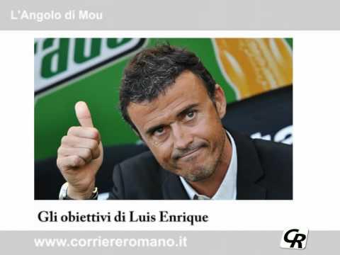 Luis Enrique, gli obiettivi ed il cucchiaio di Totti.