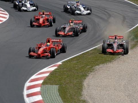 Melhores momentos Gp da Espanha 2007 (vitória de Felipe Massa)