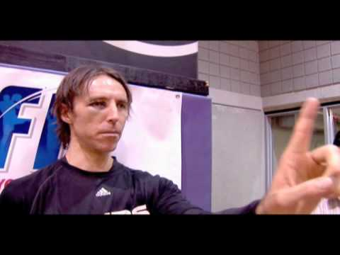 Jared Dudley and Goran Dragic Try To Replicate Steve Nash One-Eyed Shooting Video