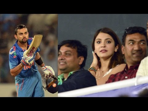 Watch Virat Kohli's flying kiss to Anushka Sharma