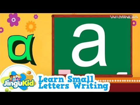 Kids learn to write alphabet