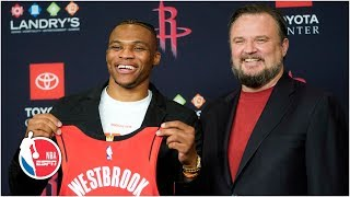 'I'm a nice guy' - Russell Westbrook's Houston Rockets introduction | NBA on ESPN