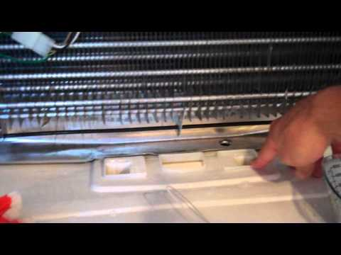 How to fix a leaking refrigerator - frozen defrost drain tube