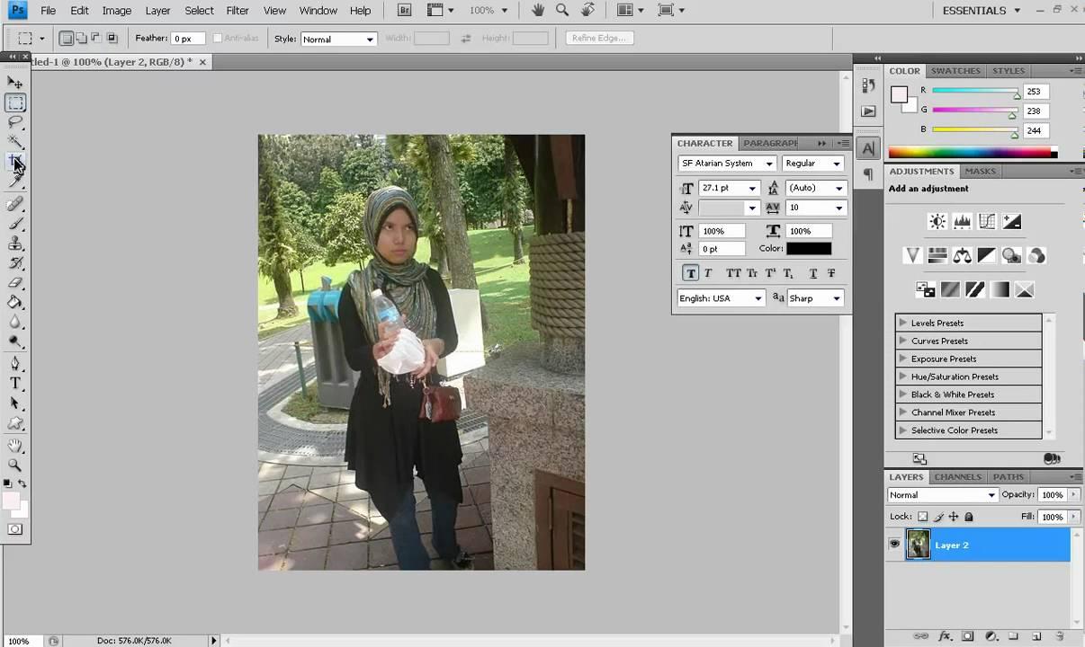 Tutorial Photoshop : Macam mana nak potong (crop) gambar yang ...