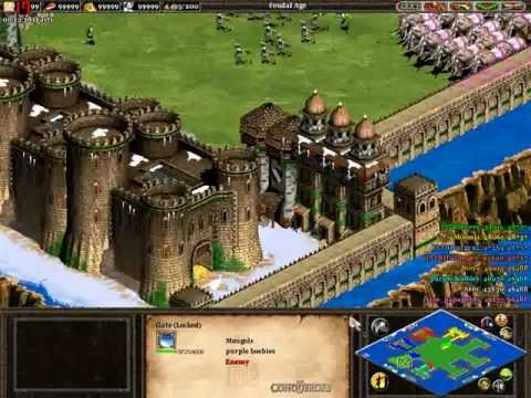 Age of empires 2 online. Big battle 4v4 CBA HEROES (HD)