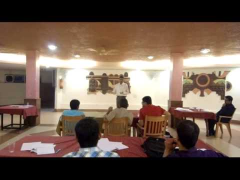 Gururaj Kulkarni from Green Lighting learns Public Speaking w Bishal Sarkar