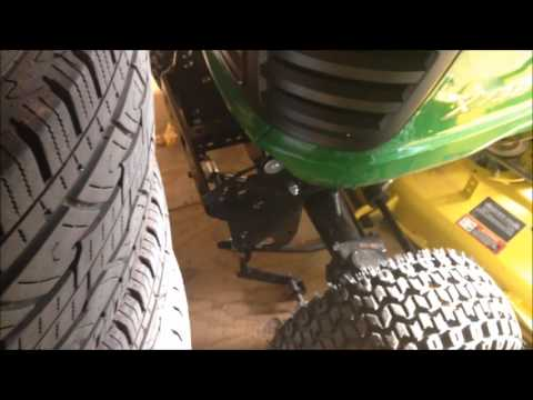 John Deere X738 Mowing Deck to Snow Plow