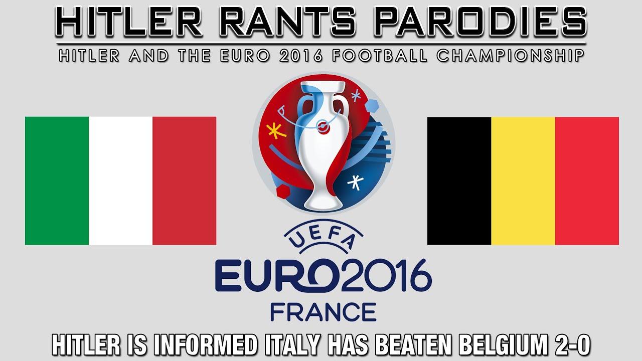 Hitler is informed Italy has beaten Belgium 2-0