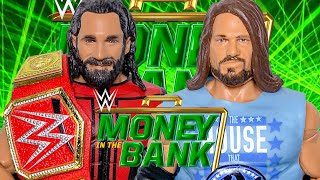 SETH ROLLINS VS AJ STYLES WWE ACTION FIGURE UNIVERSAL CHAMPIONSHIP MATCH MONEY IN THE BANK 2019!