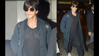 Shahrukh Khan Return From LA In Cool Airport Look