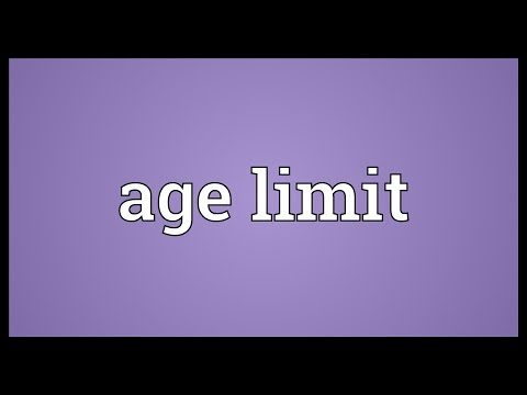 Header of age limit
