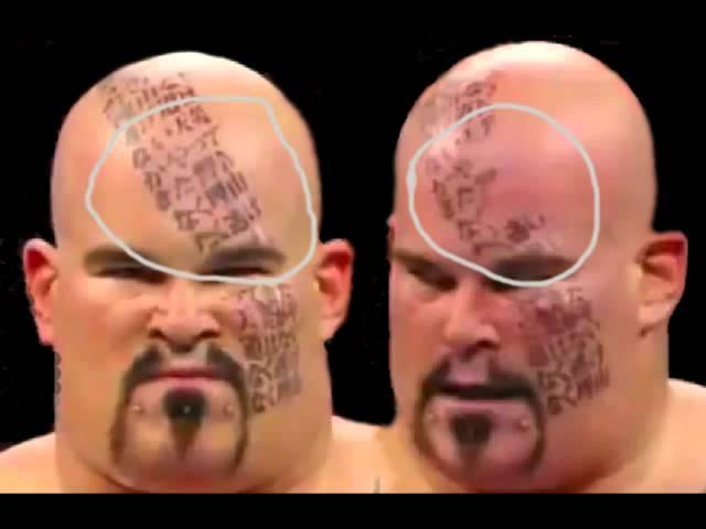 WWE Lord Tensai Face Tattoos Umaga Without Face Paint