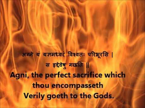 Full Agni Suktam Rig Veda Book 1 Hymn 1 Devanagari Sanskrit English translations.wmv