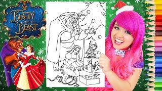 Coloring Belle Christmas Beauty And The Beast Coloring Page Prismacolor Pencils | KiMMi THE CLOWN