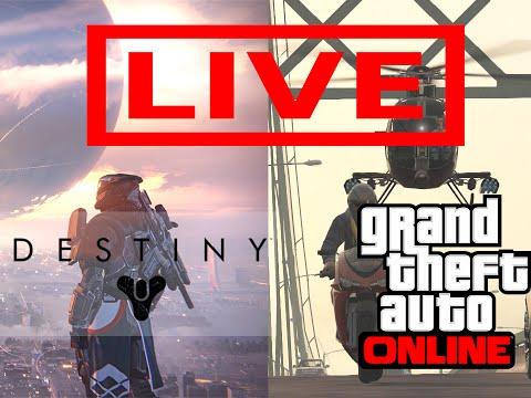 DreeStream: GTA V Online - DESAFIO DE QUARTA / Destiny no FLOW ao VIVO! =]