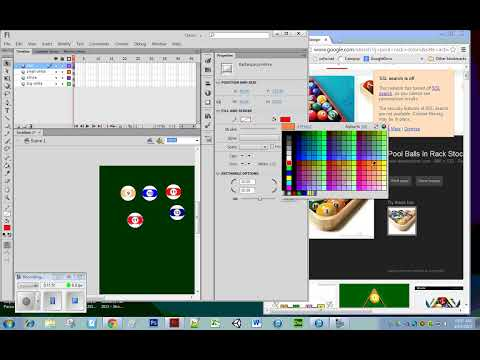 Flash CS6: Creating pool balls with stripes.