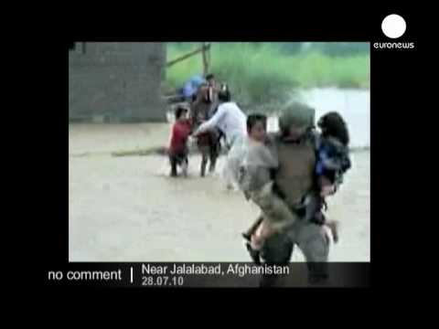 US troops rescue flood victims in Afghanistan - no comment