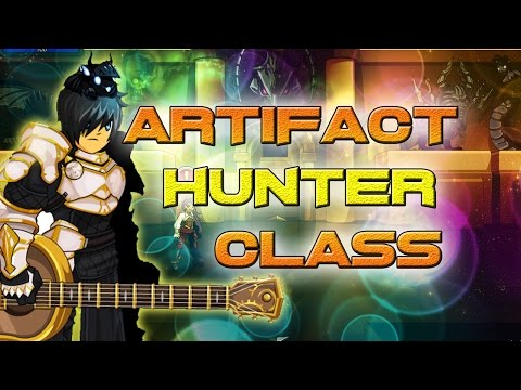 AQW: Artifact Hunter Class Guide! ( Solo, How to use, Enchantments, skill pattern, ranges)