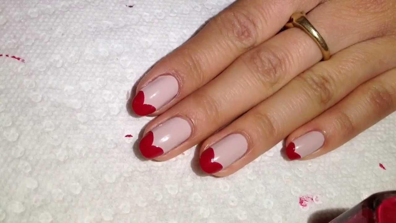 Oval Nails Design Tumblr Heart Tip Nail Tutoria...