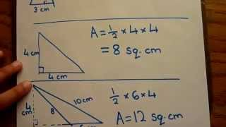 Find Area of Triangle - Calculate triangle area - VERY EASY to learn